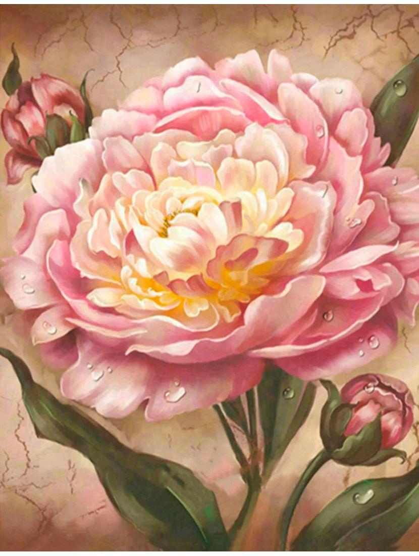 """Алмазная мозаика """"Розовые пионы"""""""