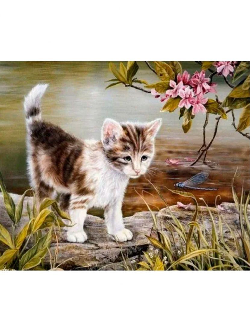 """Алмазная мозаика """"Котёнок"""""""