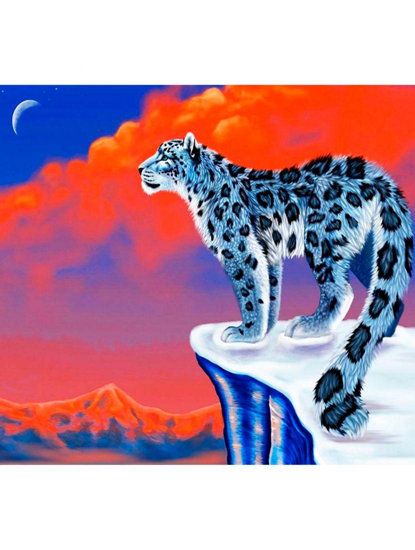 """Картина по номерам  на подрамнике """"Снежный барс"""""""