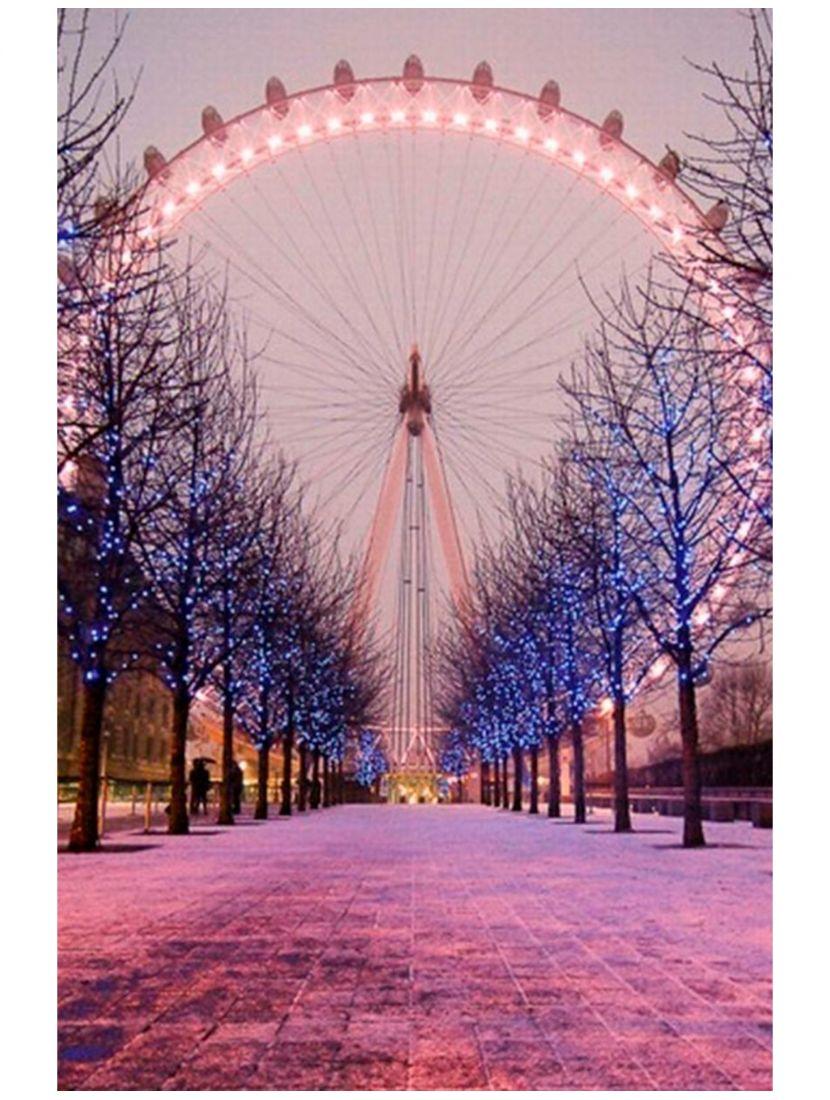 """Картина по номерам  на подрамнике """"Лондонский глаз"""""""