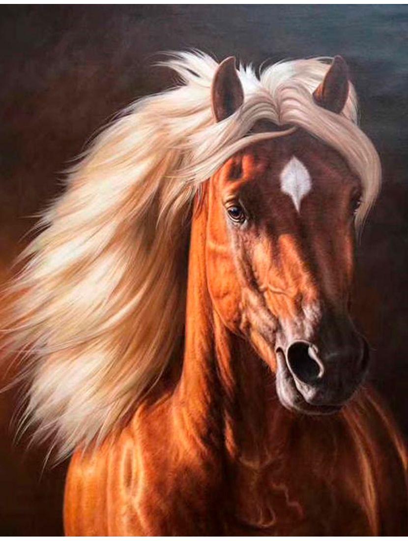 """Картина по номерам  на подрамнике """"Добрая лошадь"""""""