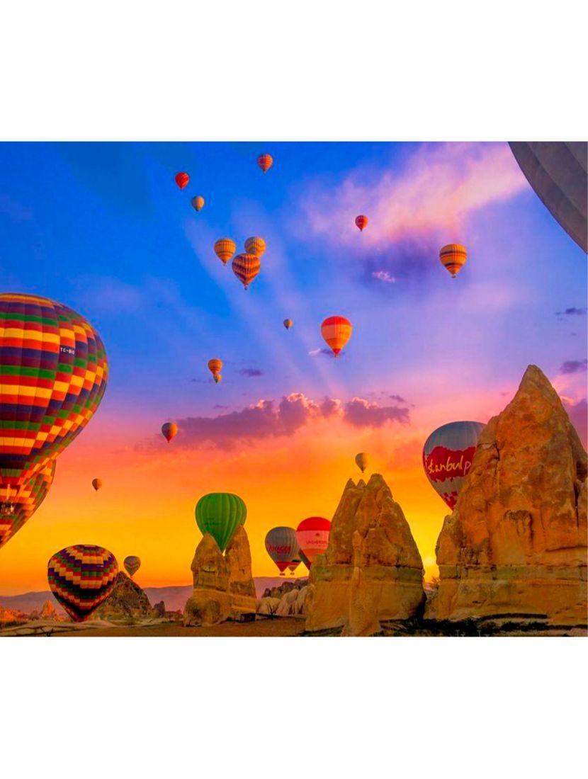 """Картина по номерам  на подрамнике """"Каппадокия воздушные шары"""""""