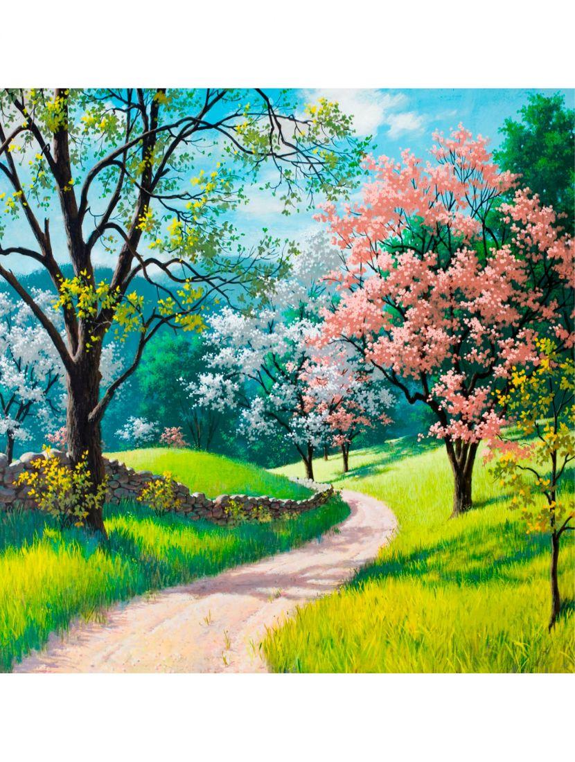 """Картина по номерам  на подрамнике """"Весенний пейзаж"""""""