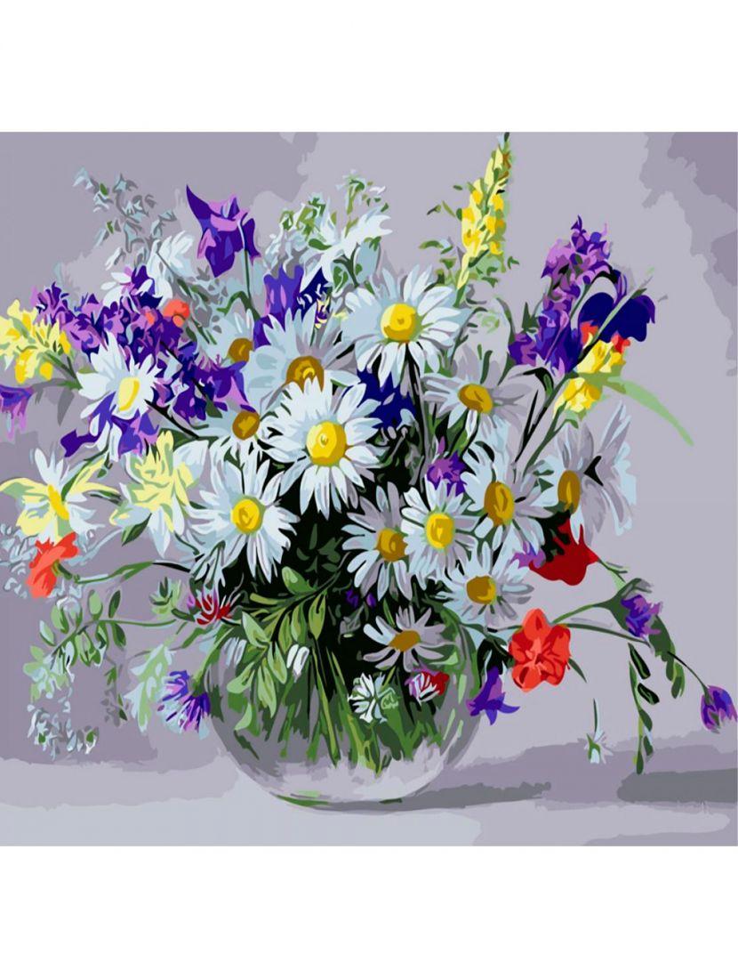 Картина по номерам  на подрамнике «Букет полевых цветов»
