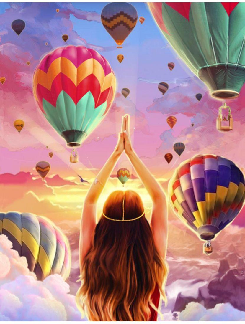 Картина по номерам  на подрамнике «Фестиваль воздушных шаров»