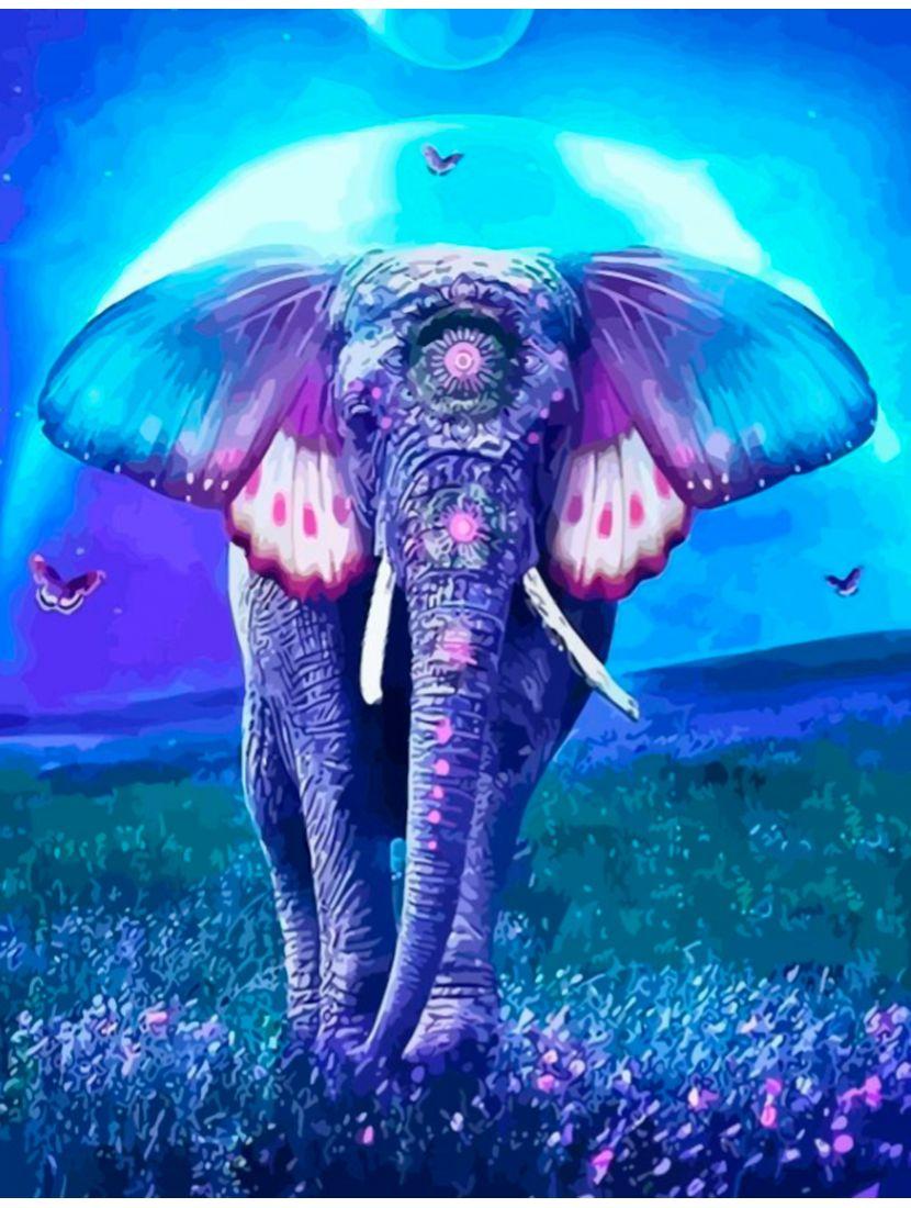 "Картина по номерам  на подрамнике ""Фантастический слон"""