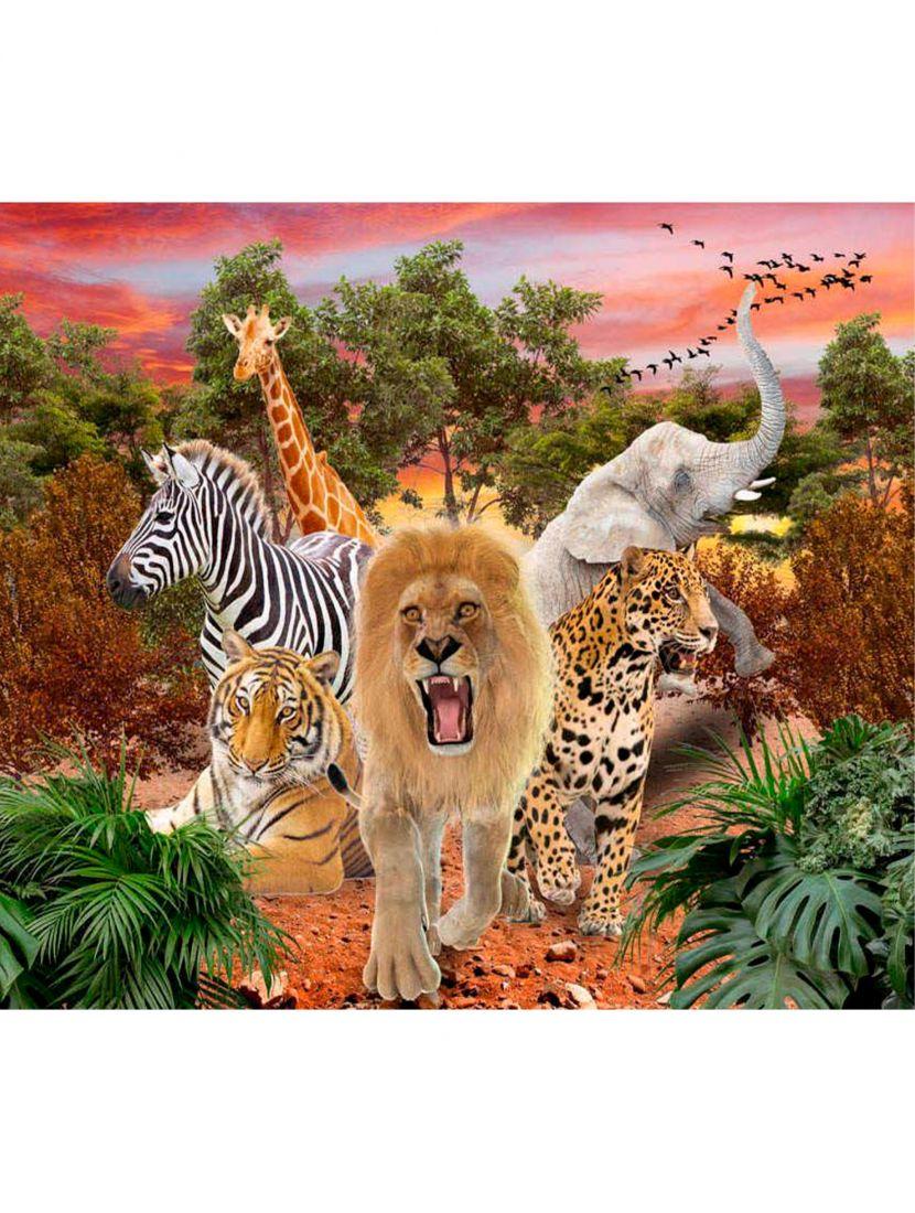 """Картина по номерам  на подрамнике """"Африканские животные"""""""
