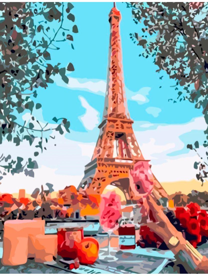 "Картина по номерам  на подрамнике ""Париж"""
