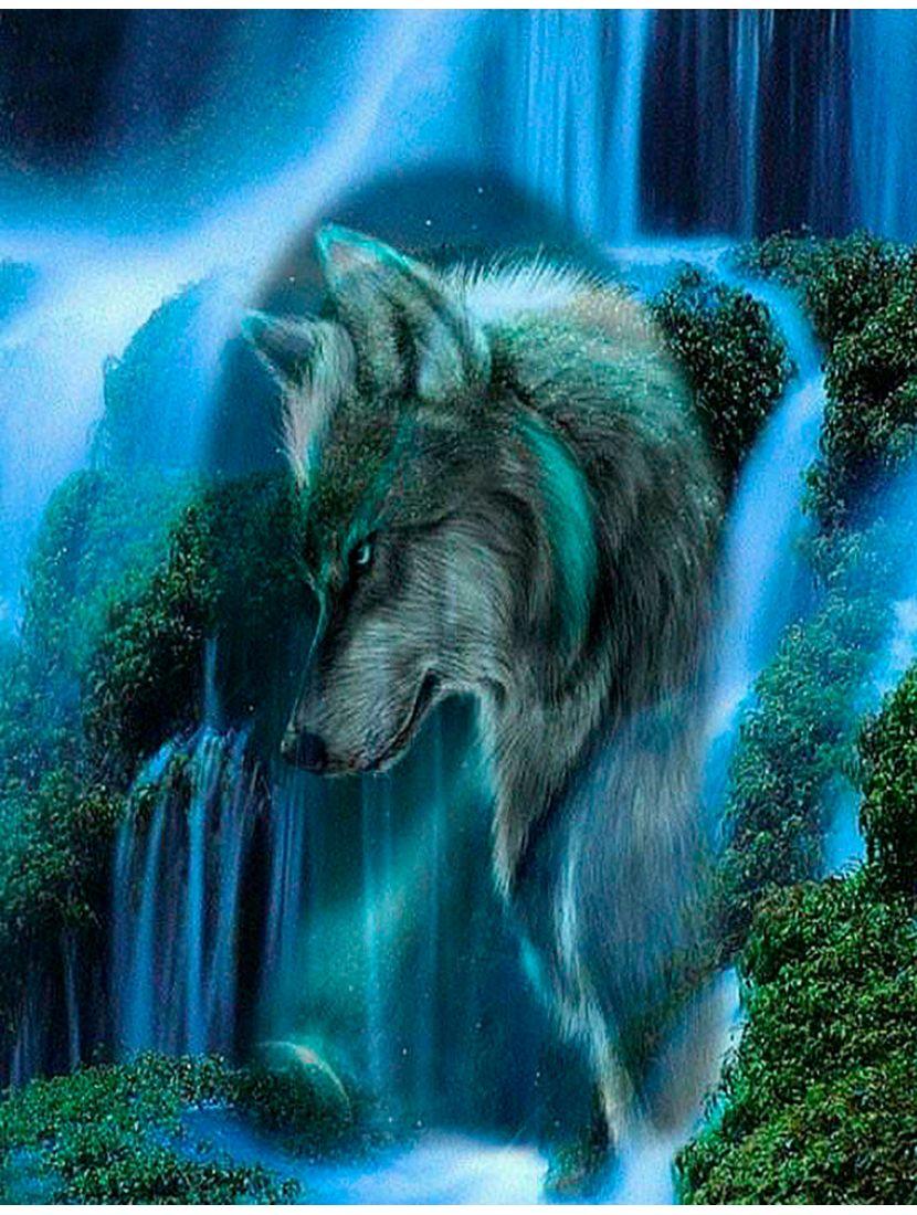 """Картина по номерам  на подрамнике """"Дух одинокого волка"""""""