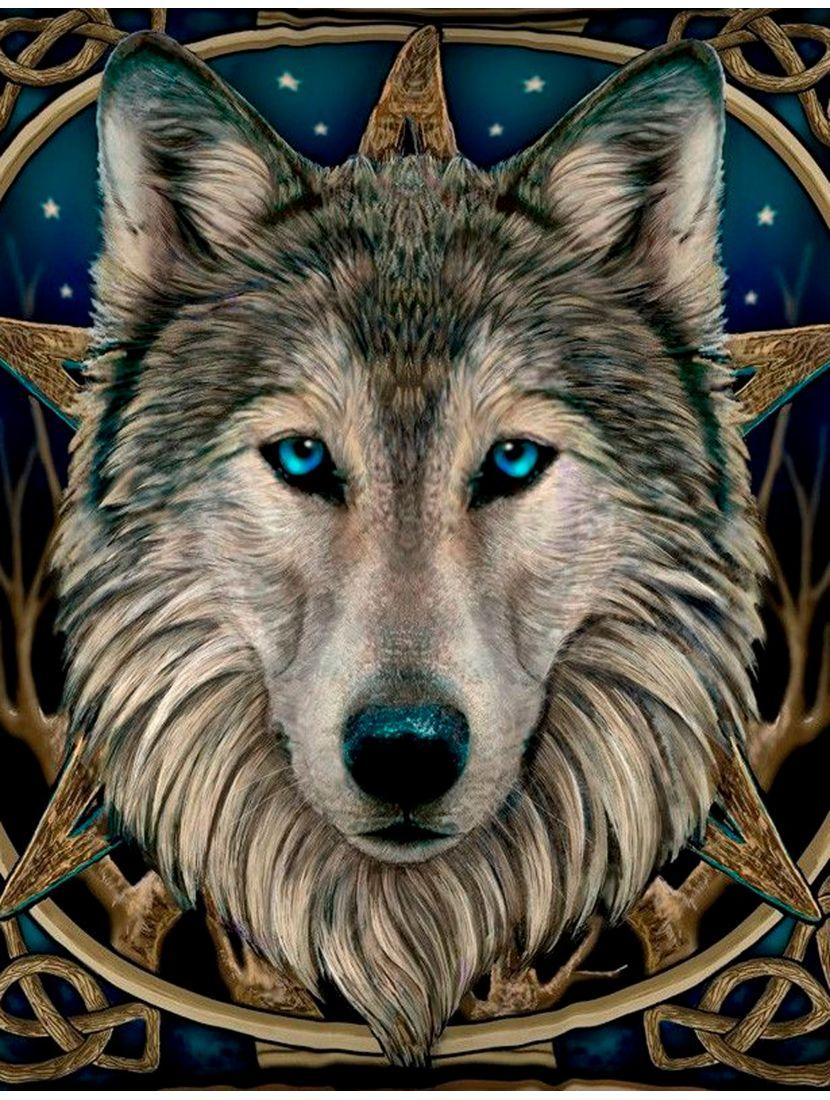 "Картина по номерам  на подрамнике ""Тотем дикого волка"""