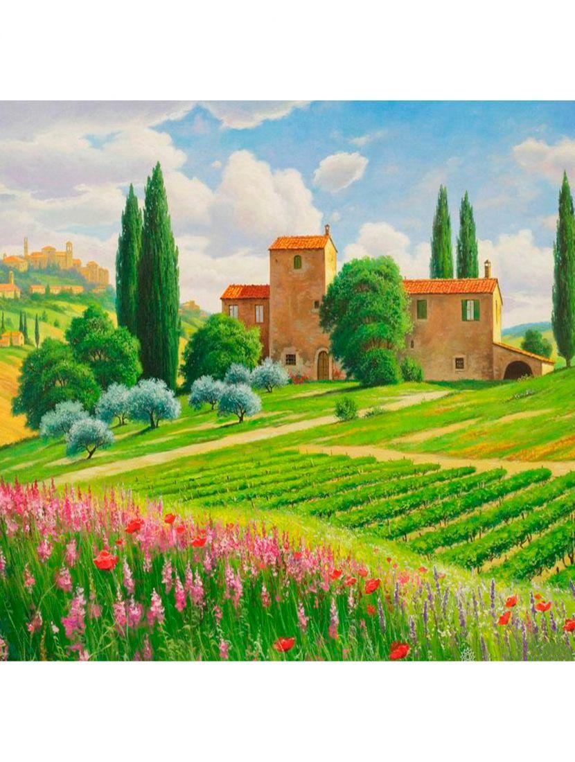 """Картина по номерам  на подрамнике """"Пейзаж Тоскана"""""""