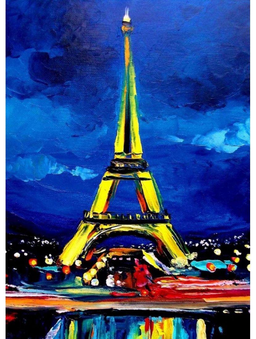 Картина по номерам «Эйфелева башня»
