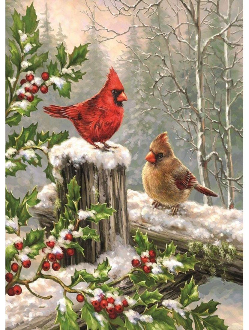 """Картина по номерам """"Зимние птицы"""""""