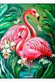 "Картина по номерам ""Фламинго в цветах"""