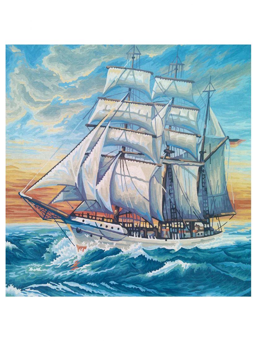Картина по номерам «Парусник на закате»