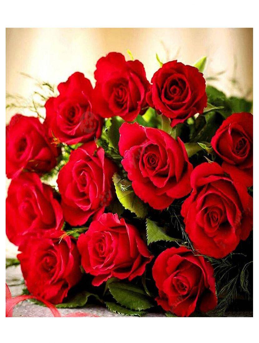 """Картина по номерам """"Букет красных роз"""""""