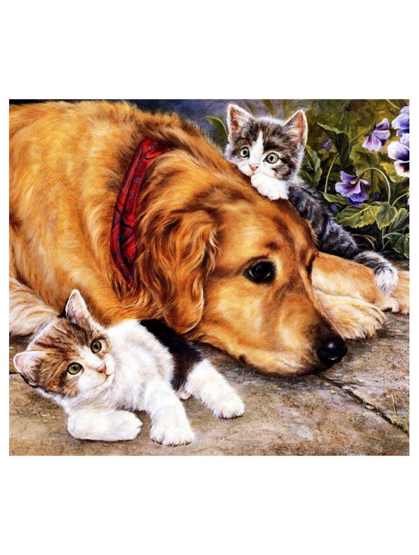 "Картина по номерам ""Добрый пёс"""