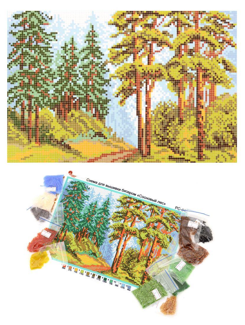 """Набор для вышивания бисером """"Сосновый лес"""""""