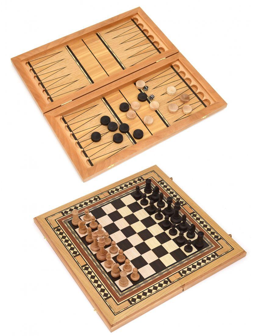 Нарды, шахматы, шашки 3в1 «Семиклинка» шпон