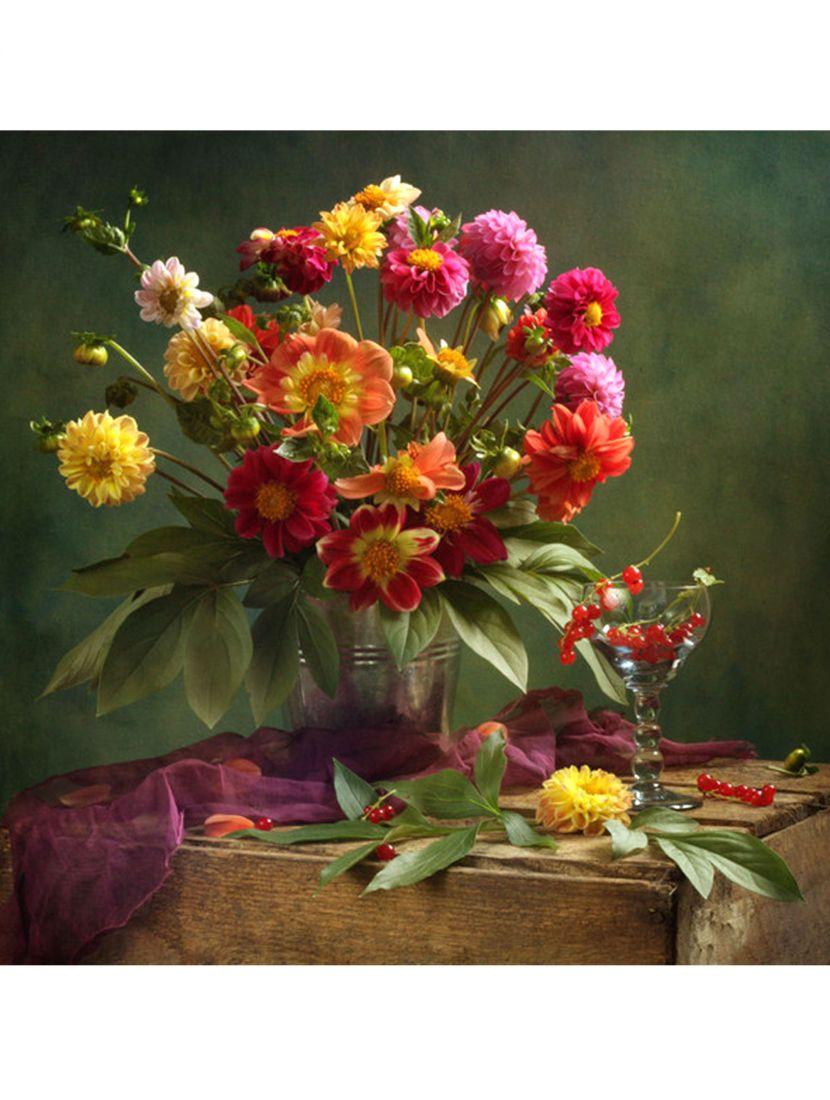 """Набор для вышивания бисером """"Цветы в вазе"""""""