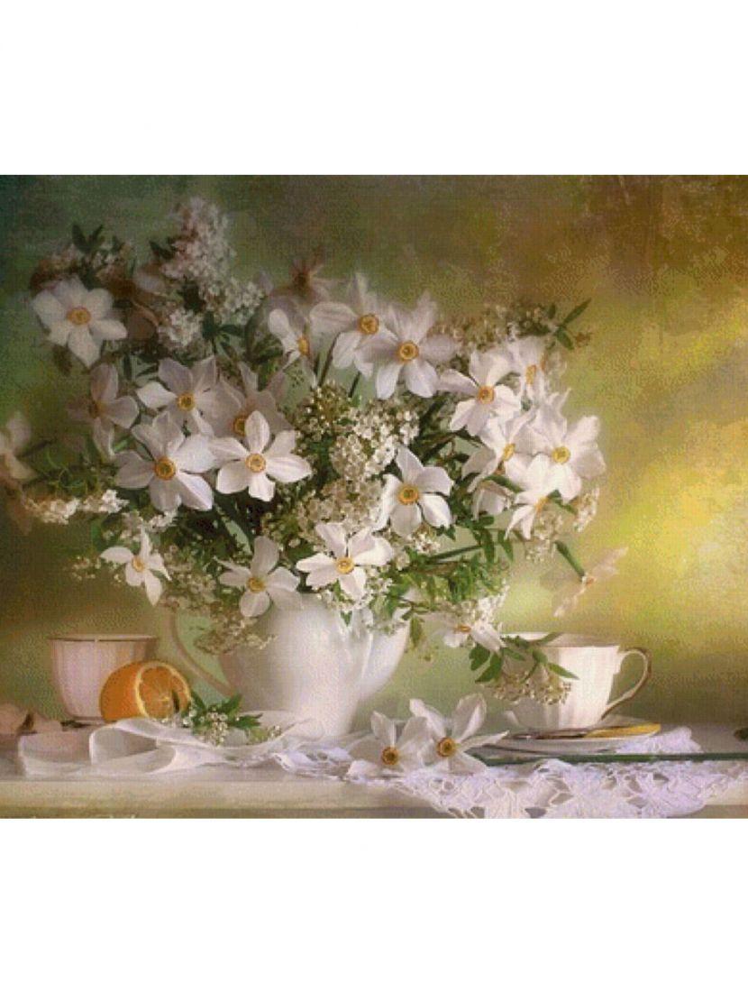 Набор для вышивания бисером «Цветы в вазе»