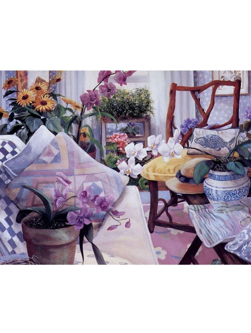 Набор для вышивания бисером «Фиолетовый интерьер»