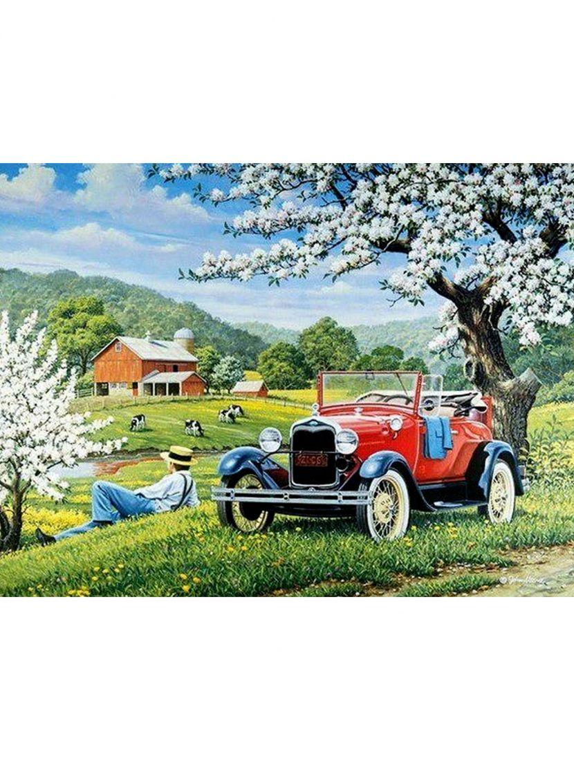 Набор для вышивания бисером «Ретро автомобиль»