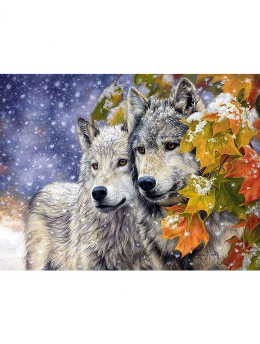 """Набор для вышивания бисером """"Волки"""""""