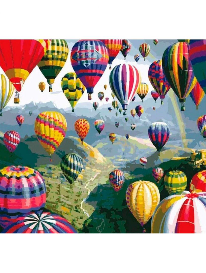 """Картина по номерам  на подрамнике """"Воздушные шары"""""""