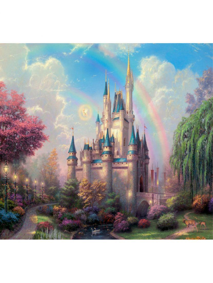 """Картина по номерам  на подрамнике """"Сказочный замок"""""""