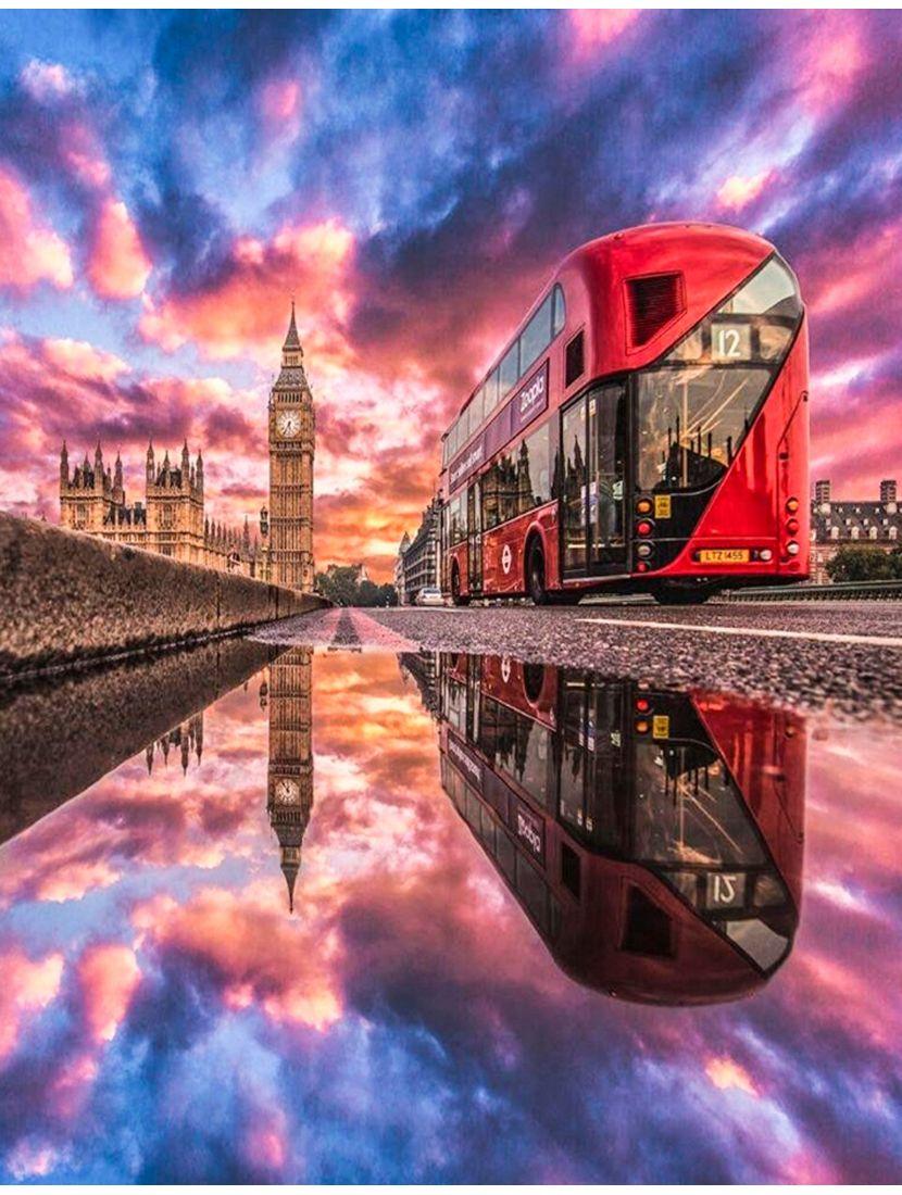 """Картина по номерам  на подрамнике """"Лондон после дождя"""""""