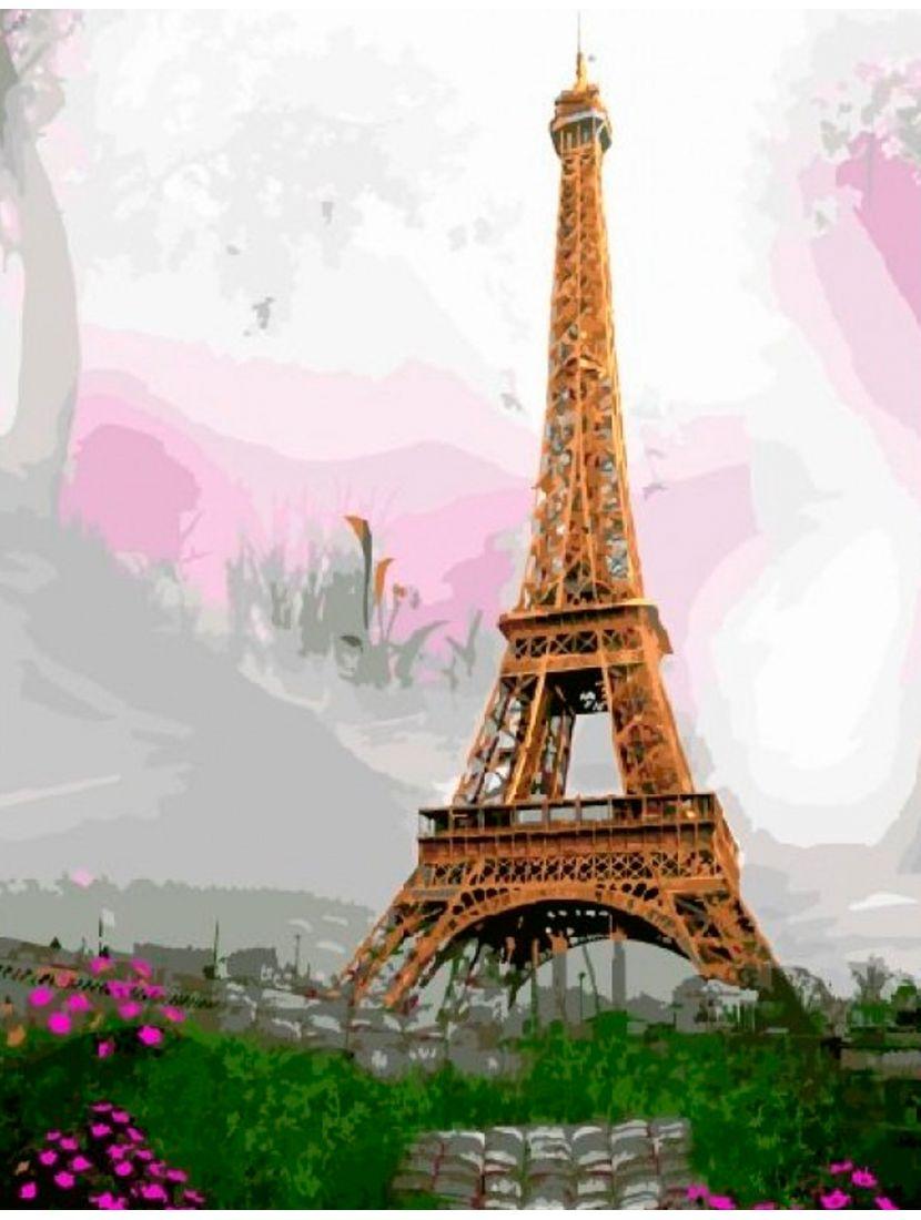 Картина по номерам  на подрамнике «Эйфелева башня»