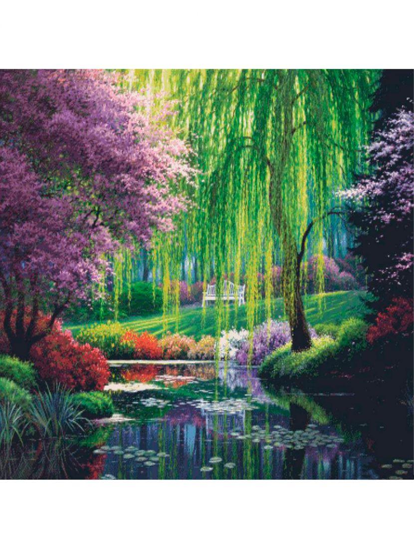"""Картина по номерам  на подрамнике """"Красивый сад"""""""