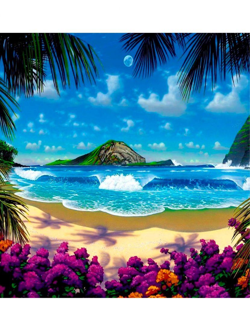 Картина по номерам  на подрамнике «Райский остров»
