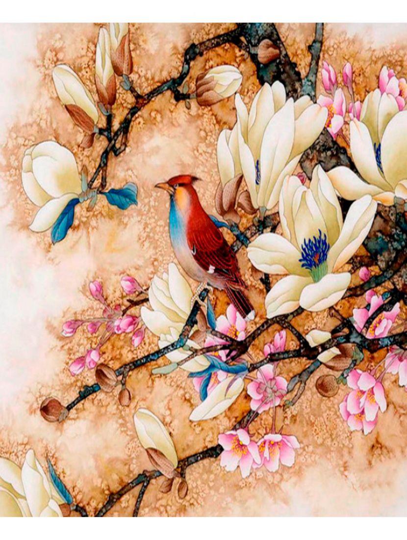 """Картина по номерам  на подрамнике """"Птичка на сакуре"""""""