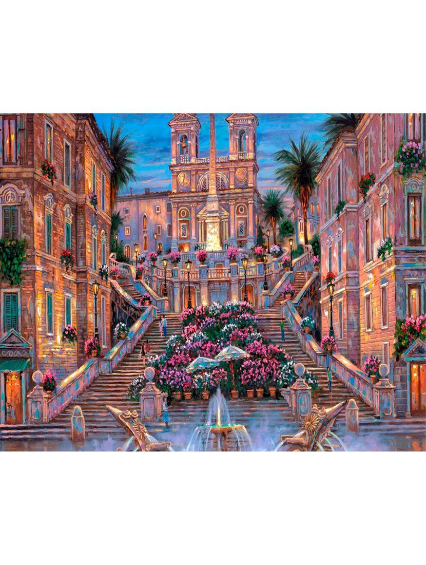 """Алмазная мозаика на подрамнике """"Испанская лестница"""""""