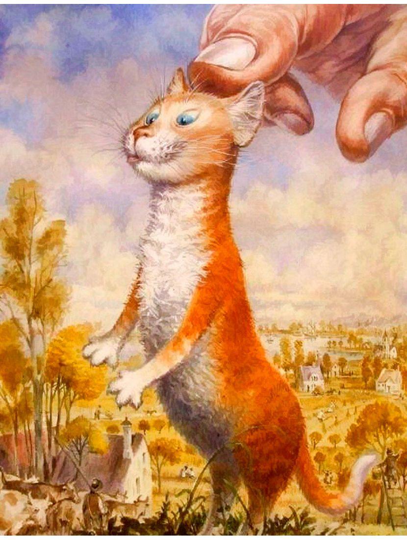 Алмазная мозаика «Петербургский кот»
