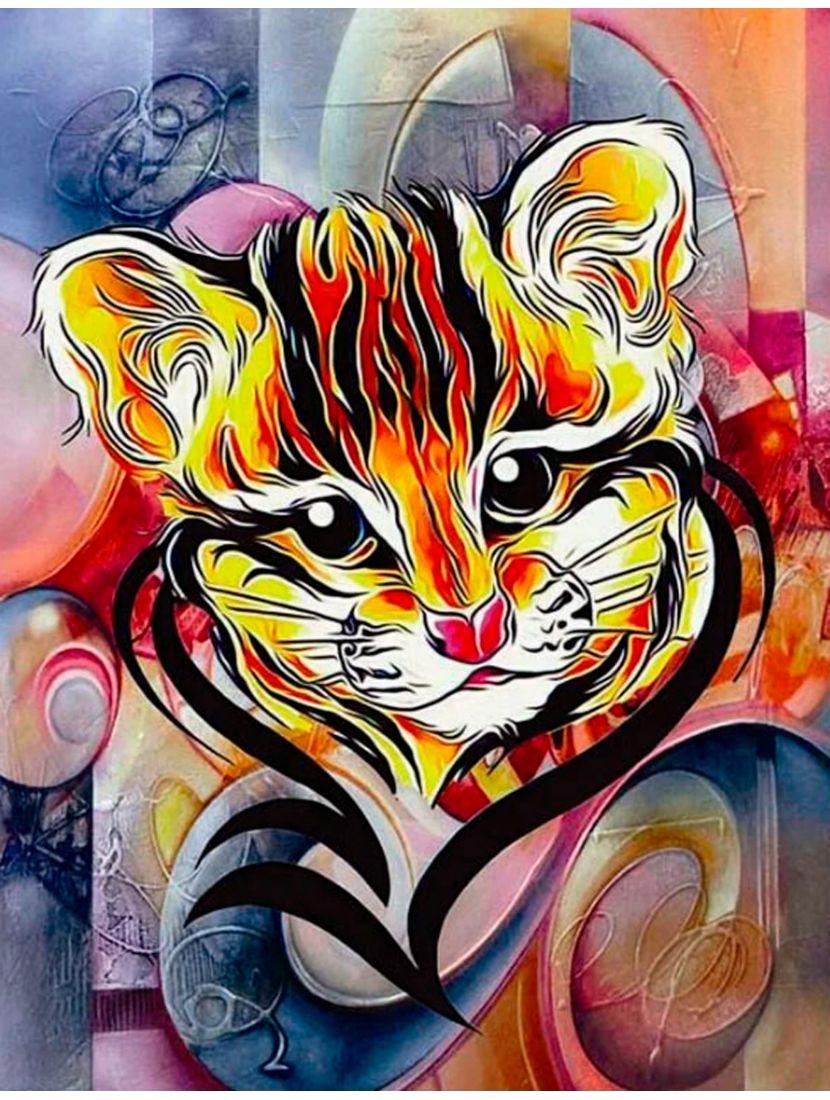 Алмазная мозаика «Маленький тигрёнок»