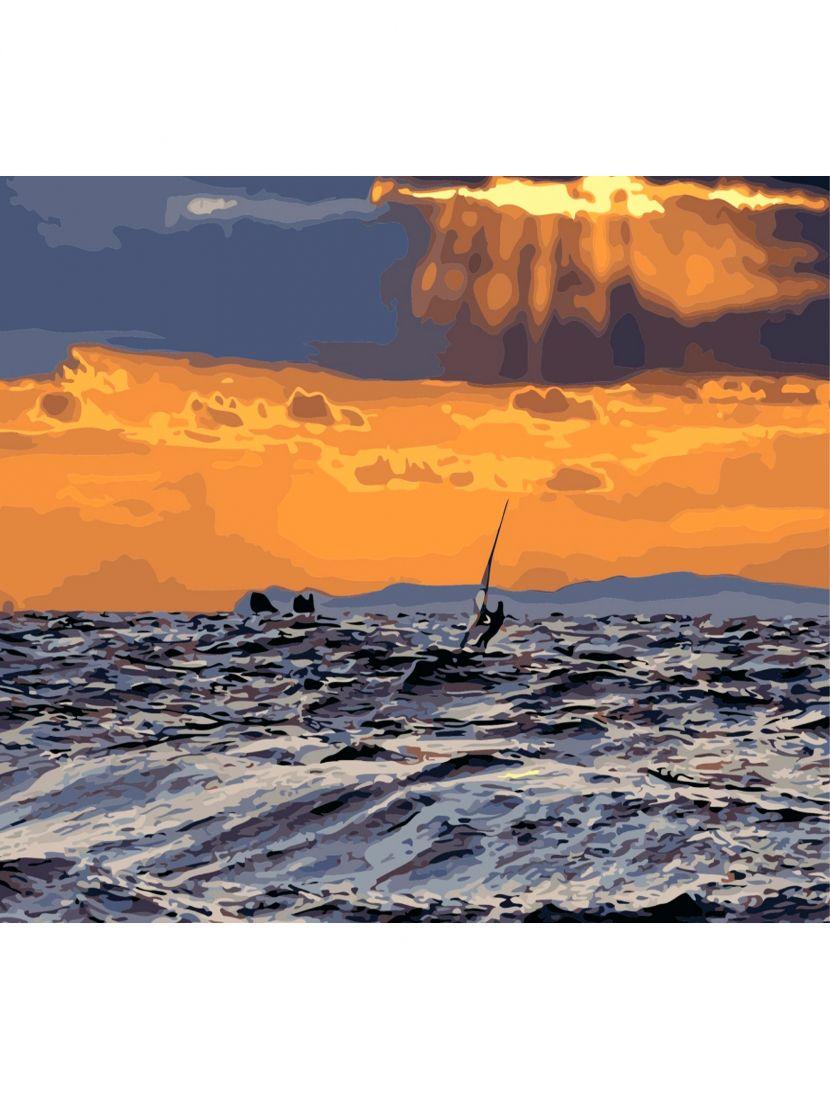 Алмазная мозаика «Сёрфинг на закате»