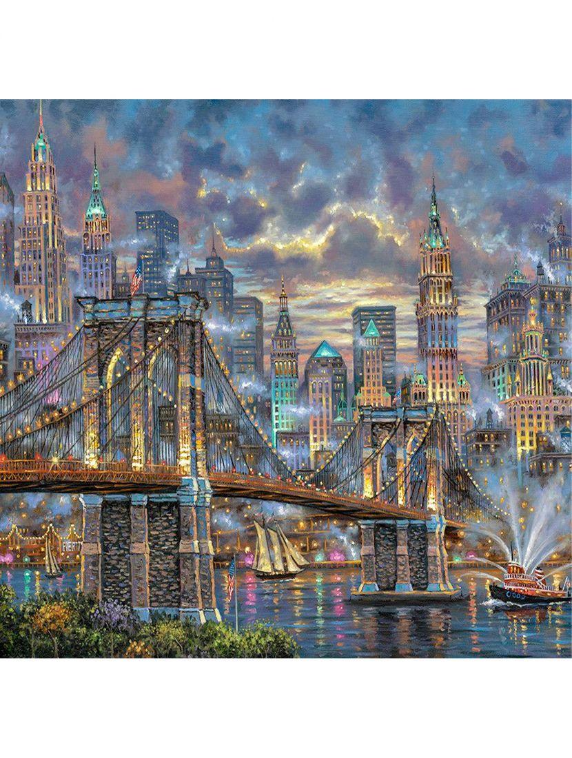 "Алмазная мозаика ""Мост на Манхеттен"""
