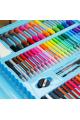 Набор для рисования в кейсе 176 предметов голубой