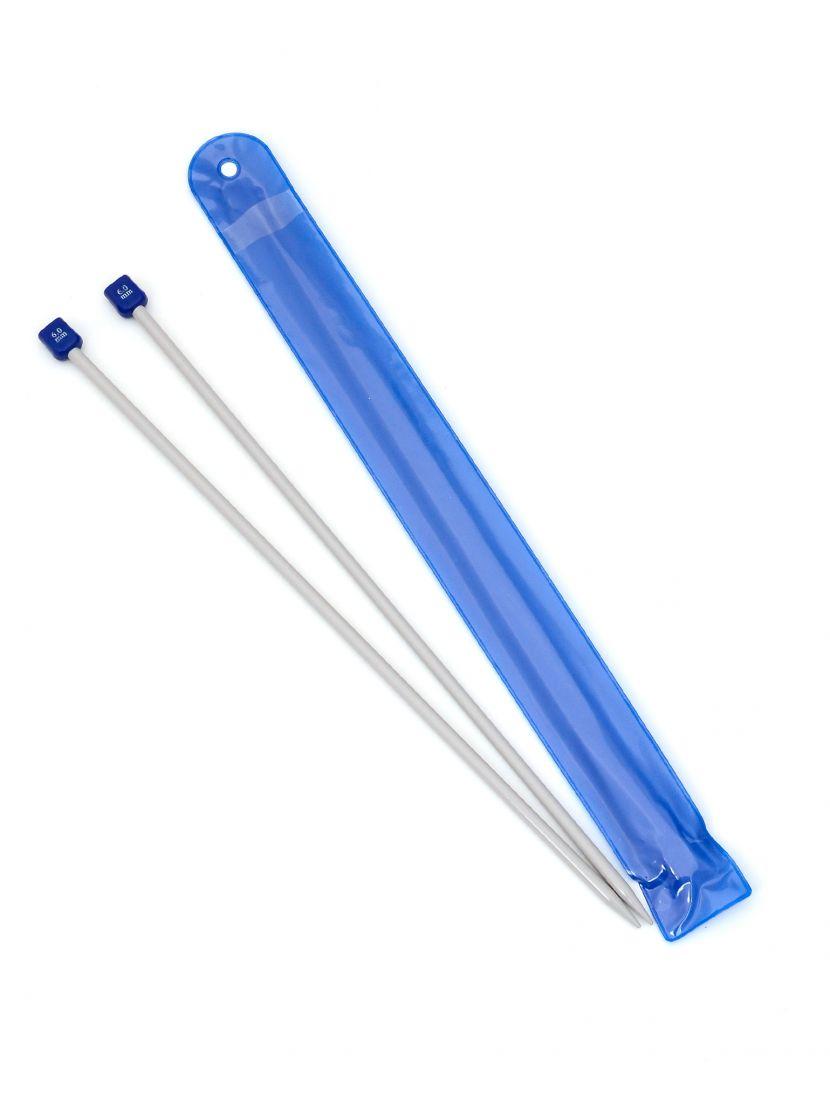 Спицы для вязания, диаметр 6 мм, длина 33 см, пластик, 2 шт