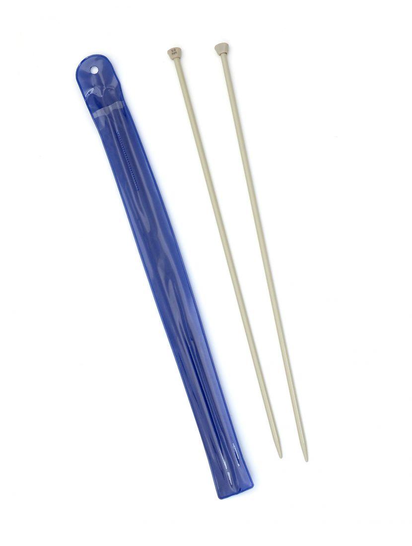 Спицы для вязания, диаметр 5 мм, длина 33 см, пластик, 2 шт