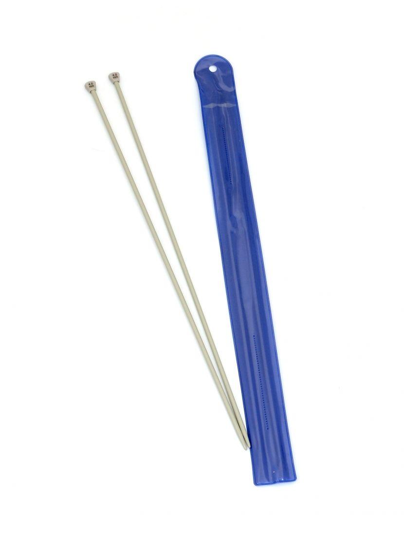 Спицы для вязания, диаметр 4 мм, длина 33 см, пластик, 2 шт