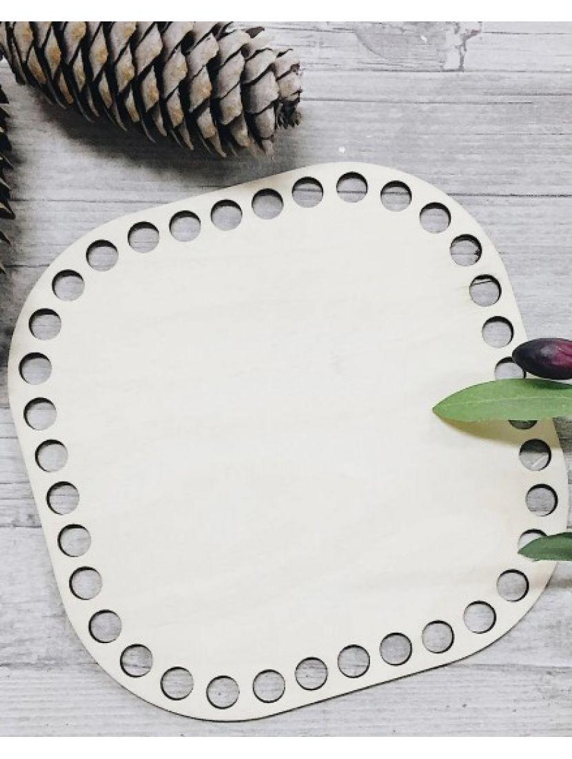 Донышко для вязания «Квадрат с закруглённым углом» деревянное, 15 см