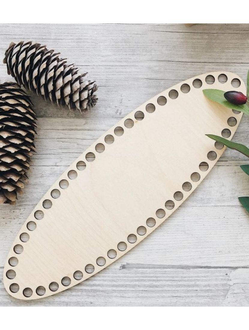 Донышко для вязания «Овал 30» деревянное, 30*10 см