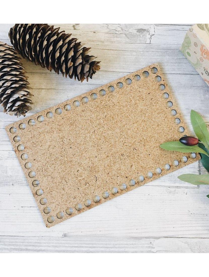 Донышко для вязания «Прямоугольник» МДФ, 25*15 см