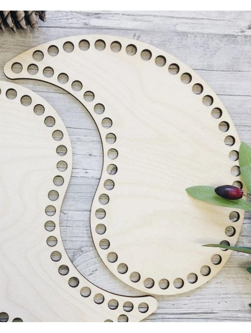 Донышки для вязания «Инь Ян» деревянные в наборе, 25*15 см
