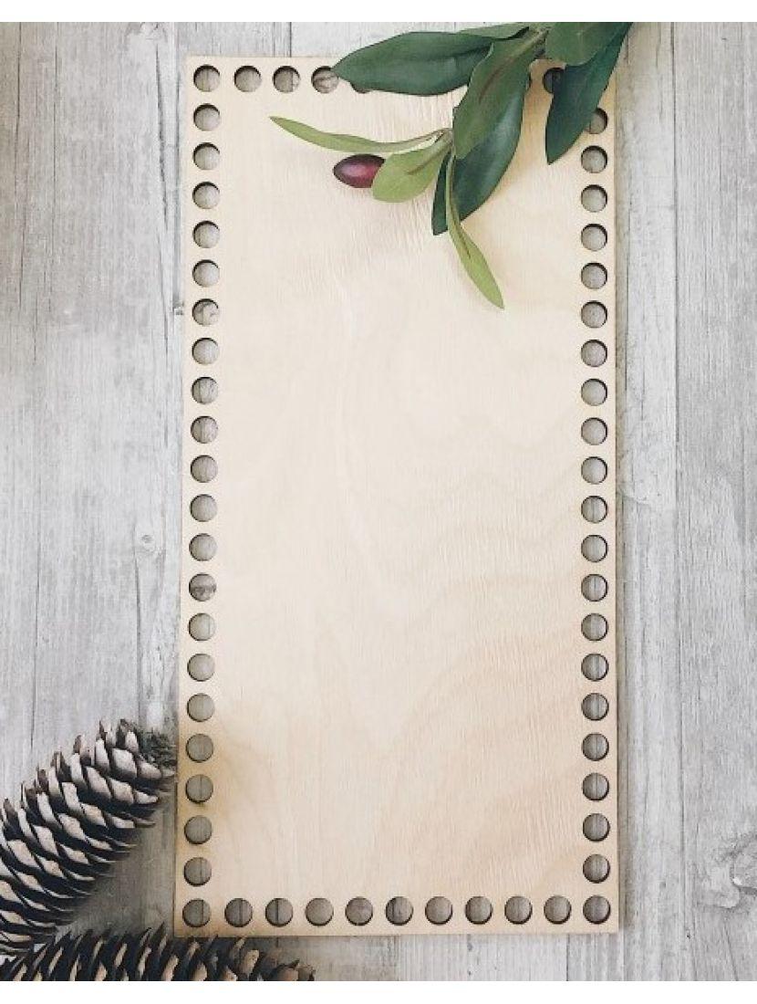 Донышко для вязания «Прямоугольник 30» деревянное, 30*15 см