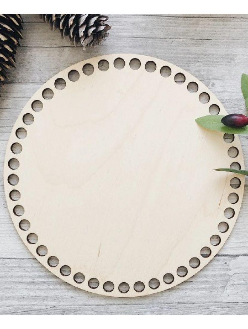 Донышко для вязания деревянное, 22 см